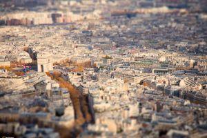national geographic france cityscape tilt shift arc de triomphe paris
