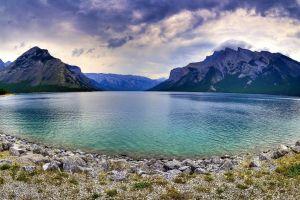 nature canada mountains lake landscape