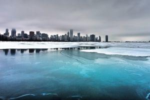 nature chicago winter cityscape