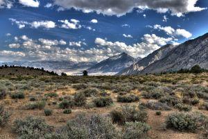 nature clouds mountains landscape