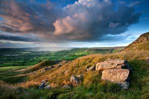 nature clouds rock landscape sky mountains