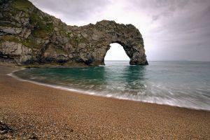 nature durdle door coast beach