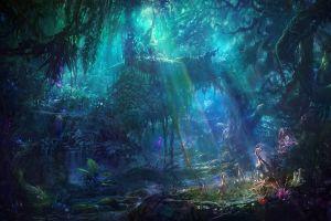 nature fantasy art plants artwork forest