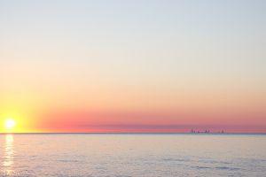 nature horizon beach sunlight sky