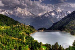 nature lake landscape mountains