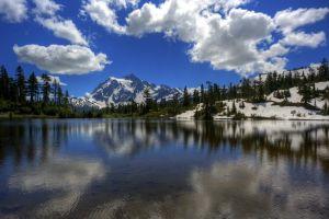 nature landscape hdr lake