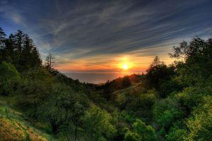 nature landscape hills sky sunlight sun horizon