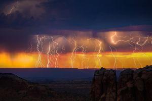 nature landscape lightning sky thunderbolt storm