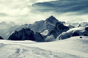 nature landscape snow winter titlis mountains switzerland