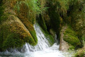 nature landscape waterfall water