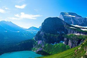 nature montana mountains glacier national park lake landscape