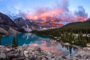 nature mountains canada landscape