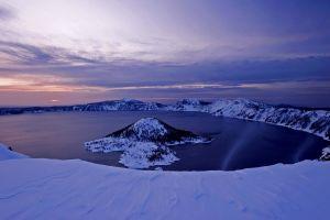 nature mountains crater lake oregon