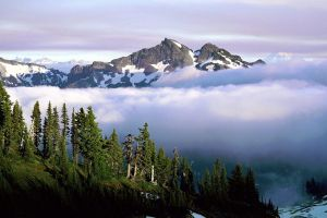 nature mountains earth landscape clouds