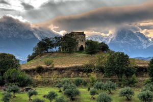 nature mountains italy landscape hdr old building sky hills