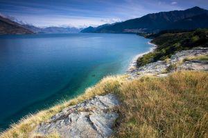 nature new zealand grass landscape lake
