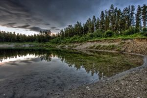 nature reflection water lake hdr trees landscape