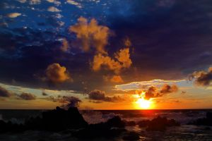 nature sea sunlight sunset clouds sky