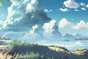 nature sky 5 centimeters per second artwork makoto shinkai  anime