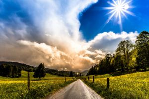 nature sky clouds sun landscape