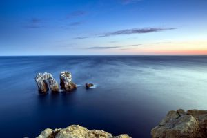 nature sky sea horizon rock