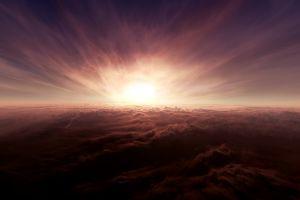 nature sunlight fire horizon sky clouds