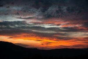 nature sunset sky clouds