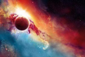 nebula digital art planet stars universe space art galaxy space