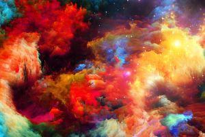 nebula space art artwork colorful space