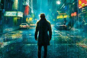 neon glow cyan rorschach watchmen urban street movies neon night