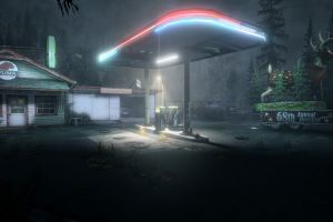 neon lights night alan wake screen shot video games