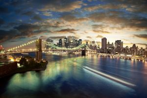new york city cityscape long exposure brooklyn bridge city bridge