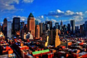 new york city depth of field cityscape