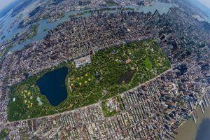 new york city fisheye lens skyscraper building usa urban aerial view central park city