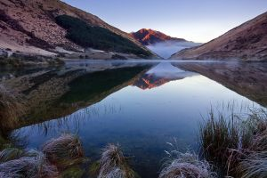 new zealand lake mountains lake kirkpatrick landscape
