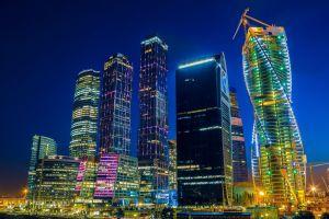 night cityscape city lights