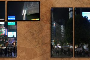night collage cityscape japan