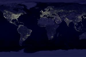 night earth world map