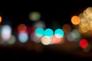 night lights bokeh depth of field