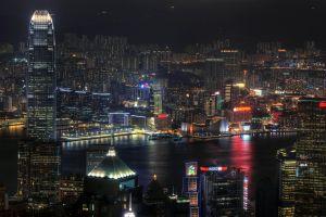 night lights city cityscape