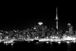 night monochrome dark cityscape