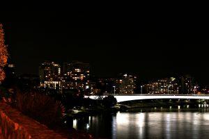 night night sky cityscape