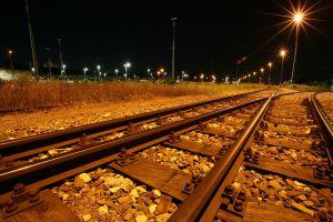 night railway lights