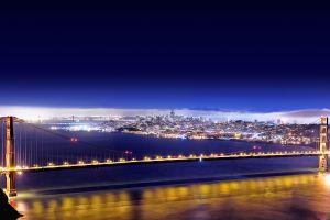 night san francisco golden gate bridge bridge lights