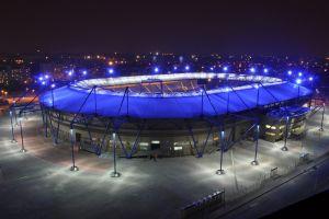 night sky cityscape stadium