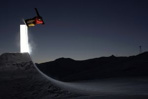 night snowboarding sport