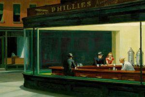 nighthawks edward hopper painting artwork diner classic art
