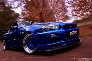 nissan vehicle nissan skyline gt-r car blue cars