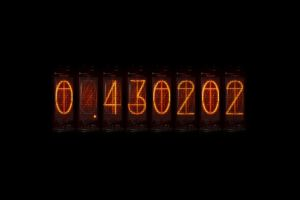 nixie tubes divergence meter anime steins;gate time travel numbers