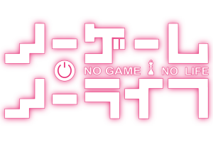 no game no life logo pink simple background